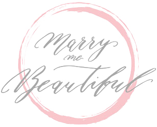 Logo Marry me bautiful