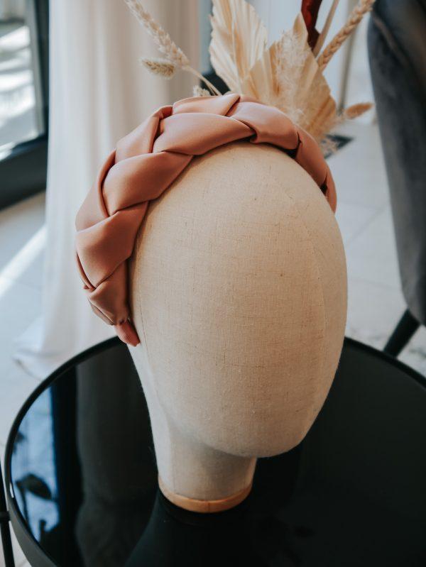 Headband geflochten, handmade, Seide