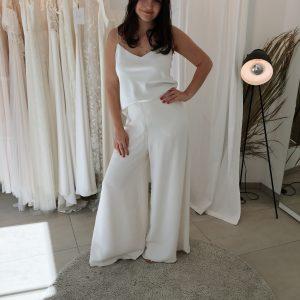 Brauthose im Marlene-Stil aus Seide
