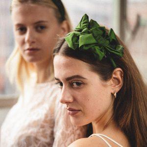 Headband mit Schleifen, handmade 100% Seide