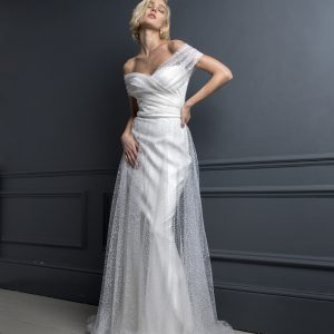 Brautkleid Off Shoulder mit Tüll