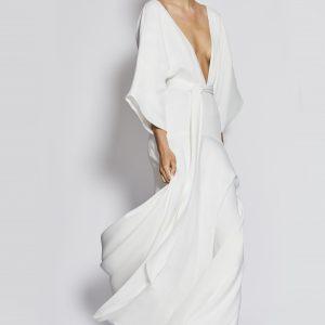 Brautkleid im Kimono-Stil