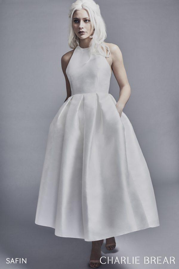 Mikardo-Midi-Kleid, ausgestellt