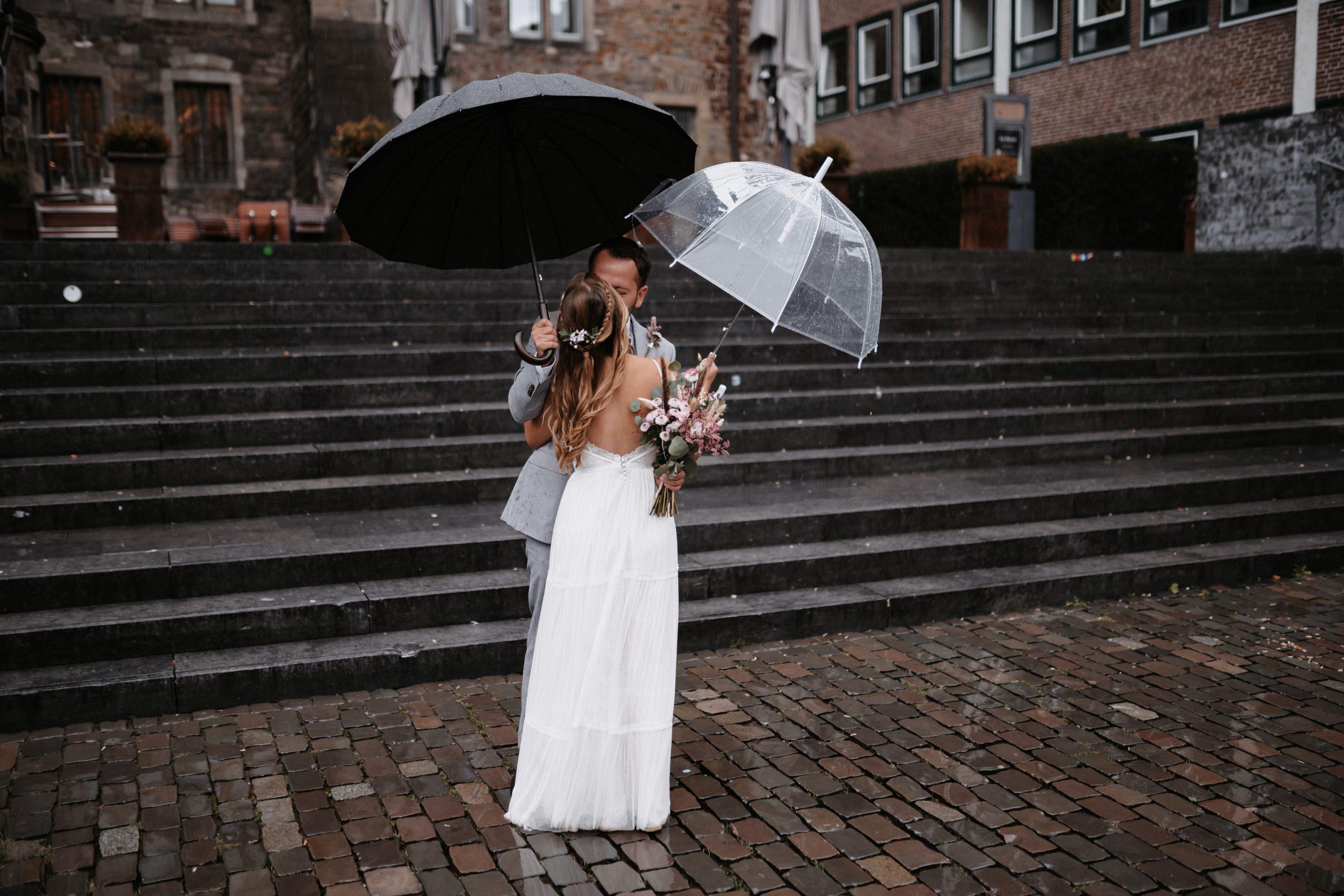 First Look - Braut und Bräutigam