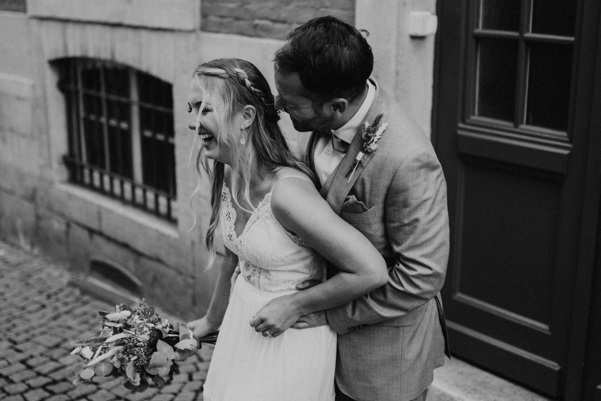 Braut und Bräutigam 'Just Married'